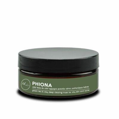 PHIONA zöld teás zöld agyag pakolás teafa olajjal zsíros pattanásos bőrre 60g